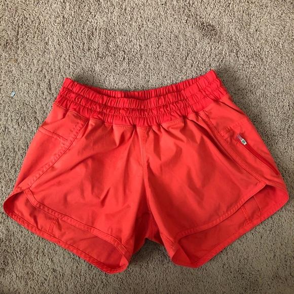 """lululemon athletica Pants - Lululemon Orange Tracker Short V 4"""" Shorts"""